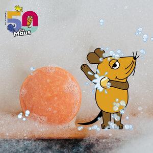 Festes 2in1 Shampoo & Dusche für Kids mit der Maus | Naturkosmetik | für alle Haar- und Hauttypen | Apfelduft - HYDROPHIL