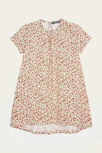 Bio Longshirt Mädchen mit kurzem Arm, bunt - Melina - Lana naturalwear