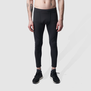 Lange Herren Sport Leggings / Running Tights - schwarz - runamics