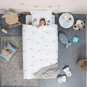 Snurk Kinderbettwäsche Arctic Friends 135 x 200 cm , 100 % Bio-Baumwolle - SNURK