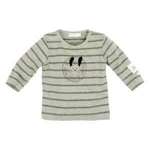 "T-Shirt ""Kind of Special"" grau geringelt GOTS - Bondi"