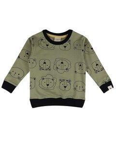 Baby Sweatshirt *Cub Faces* GOTS & BIO | Turtledove London - Turtledove London