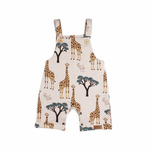 Baby Romper/ Latzhose *Giraffs* GOTS Bio | Walkiddy - Walkiddy