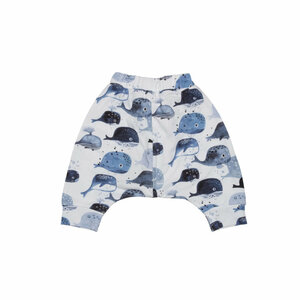 Baby Baggy Shorts *Baby Whales* GOTS & Bio | Walkiddy - Walkiddy
