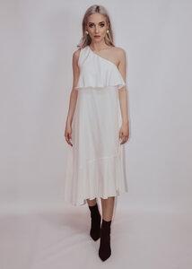 Langes Seidenkleid in Weiß - Ana Bogmair