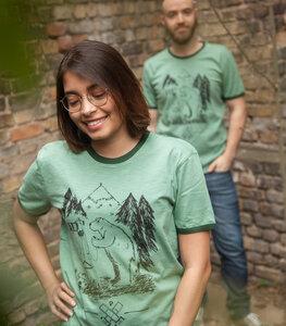 Bärnd Blitzbert - päfjes Ringer Unisex T-Shirt - Fair gehandelt aus Baumwolle Slub - Bio - päfjes