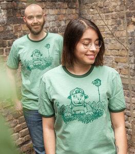 Hund Wilson Wuff - päfjes Ringer Unisex T-Shirt - Fair gehandelt aus Baumwolle Slub - Bio - päfjes