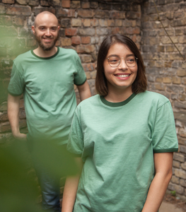 päfjes Basic Ringer Unisex T-Shirt - Fair gehandelt aus Baumwolle Slub - Bio - päfjes