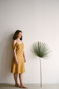 Schulterfreies Sommerkleid aus Tencel - frankie & lou organic wear