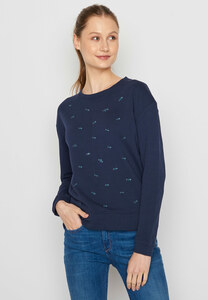 Damen Sweatshirt 100% Biobaumwolle Animal Fish Swarm Canty - GreenBomb