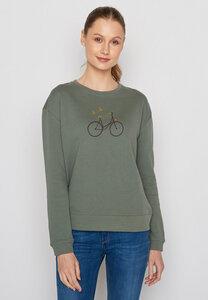 Damen Sweatshirt 100% Biobaumwolle Bike Birds Canty - GreenBomb