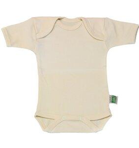Lotties Baby-Body kurzarm natur Bio Baumwolle 50/56-110/116 - Lotties