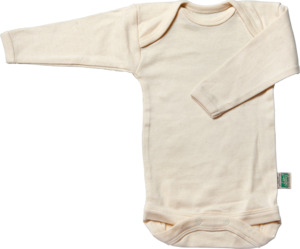 Lotties Baby-Body langarm natur Bio Baumwolle 50/56-110/116 - Lotties