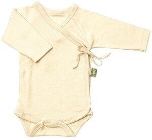 Lotties Frühchen Baby-Wickelbody langarm natur Bio Baumwolle 44-68 - Lotties