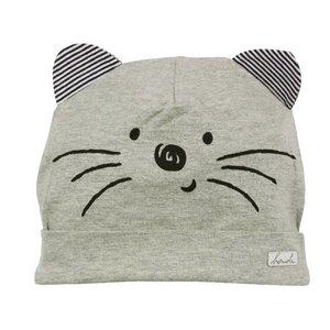 "Mütze ""Little Cat"" grau GOTS - Bondi"