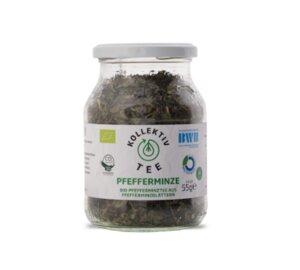 KollektivTee Pfefferminze - Bio-Pfefferminztee aus Pfefferminzblättern im Mehrwegglas - KollektivTee