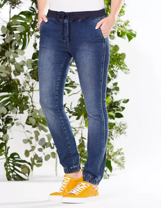 Jeans mit Gummibund aus Bio-Baumwolle - Deerberg