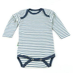 Lotties Baby-Body langarm gestreift Bio Baumwolle 50/56-98/104 - Lotties