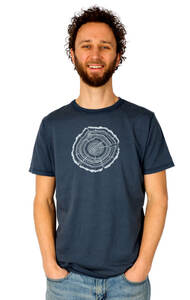 """Shirt aus Biobaumwolle Fairwear für Herren """"Treeslice"""" in Washed White/Blue - Life-Tree"""