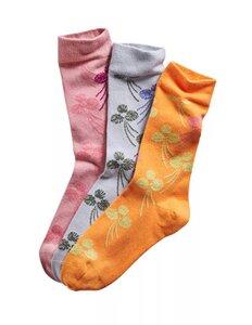 3er Pack Socken mit Blütendesign - Deerberg