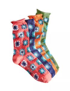 4er Pack Socken mit Rollrand - Deerberg