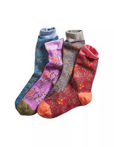 4er Pack Socken mit Rankenmuster - Deerberg