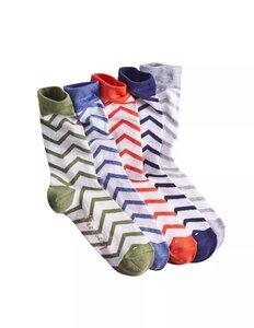 5er Pack Socken mit Zickzackmuster - Deerberg