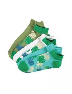 6er Pack Socken mit Blattmuster - Deerberg