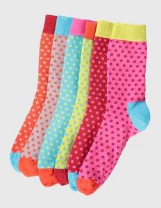 6er Pack Socken bunte Punkte - Deerberg
