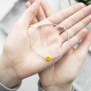 """Armband """"Kleiner Glücksfreund"""" aus natürlicher Baumwolle, größenverstellbar - Oh Bracelet Berlin"""