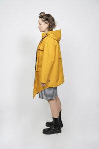 elegante, unisex, Regenjacke, Biobaumwolle, gelb PARKA STORMIG - ein garten Studios