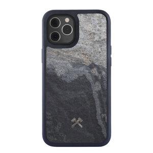 Magnetisches Bumper Case für alle iPhone 12 Modelle kompatibel mit MagSafe magnetisches Laden - Holz/Stein - Woodcessories