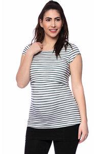 NERO Umstands- und Stillshirt kurzarm mit Print aus Bambus-Viskose - Milchshake