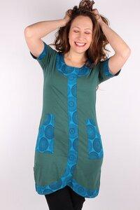 Damen Kurzarmkleid aus Bio-Baumwolle Henriette - NEPALAYA