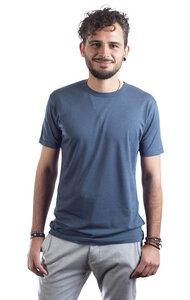 "Bambus Shirt Fairwear für Herren ""Basic"" Denim Blue/Moss Green - Life-Tree"
