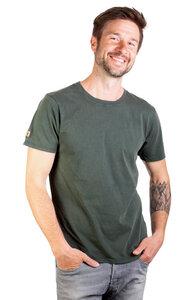 """Shirt aus Biobaumwolle für Herren """"Basic"""" Stone Washed Green/White - Life-Tree"""