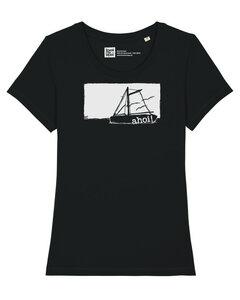 Frauen T-Shirt mit Ahoi Schiff aus Biobaumwolle Fair Wear - ilovemixtapes