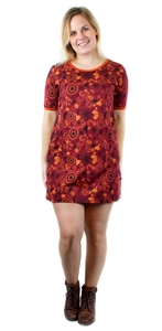 Damen Kurzarmkleid aus Bio-Baumwolle Emilia - NEPALAYA