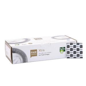 FAIR SQUARED Kondome Xtra - 100 Stück einzeln verpackt - Kondom aus fair gehandeltem Naturkautschuklatex - 100er Box - Fair Squared