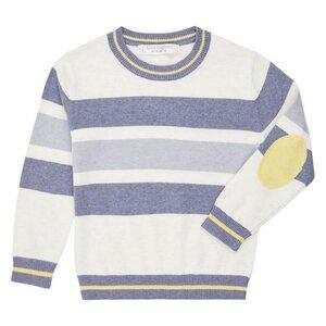 ENNO - fröhlicher Pullover mit Streifen und Ellbogenpatches - sense-organics