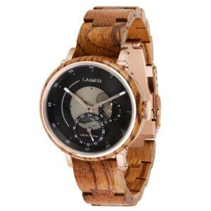 LAiMER Limited Edition - Damen Holzuhr NELE - Armbanduhr aus Zebranoholz - Laimer