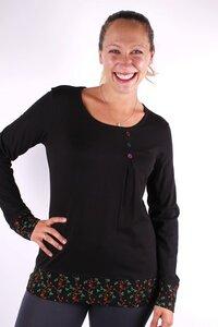 Fairtrade Damen Langarmshirt aus Bio-Baumwolle Merle - NEPALAYA