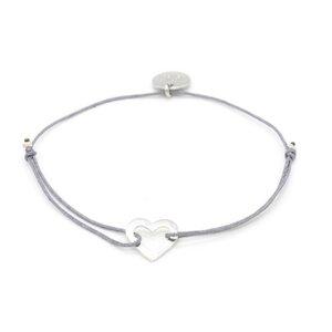 Armband Mini Herz rhodiniert - MUNICH JEWELS