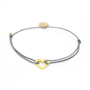 Armband Mini Herz vergoldet - MUNICH JEWELS