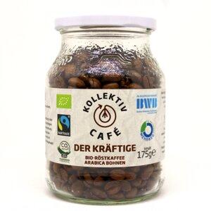 KollektivCafé Kräftige Bohne - 175g Bohnen Bio-Röstkaffee im Mehrwegglas - KollektivCafé