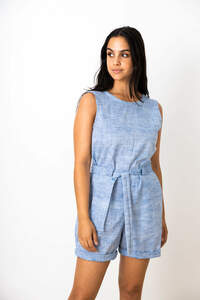 Damen Jumpsuit Dhon Hellblau - Jyoti - Fair Works