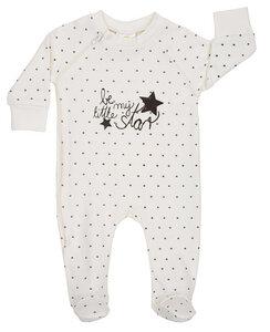 DimOrganic Schlafanzug mit Fuß Stars - DimOrganic