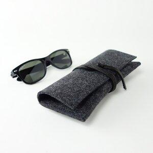 Brillenetui 'auguste' XL für breite Brillen aus Filz mit Lederband - matilda k. manufaktur