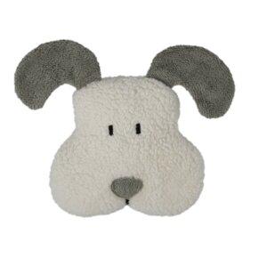 Dinkelkorn-Wärmekissen Hund, grau (KbA) - Efie
