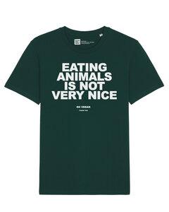 Herren T-Shirt eating animals is not very nice - go vegan - thank you aus Biobaumwolle - ilovemixtapes